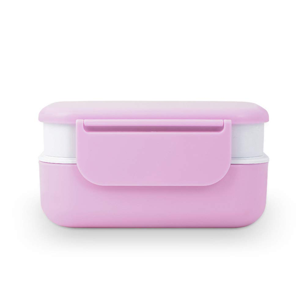 Bento Box, Portable Sealed Compartment Leakproof Breathable Ladies Men's 2 Layer Storage Box, Microwave Heating, Camping Trip by LTLSF