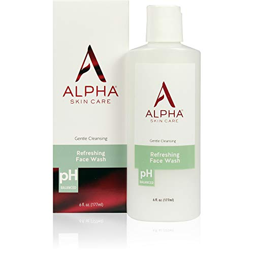 Alpha Skin Care Refreshing Face Wash | Anti-Aging Formula | Citric Alpha Hydroxy Acid (AHA) | Gently Cleanses, Purifies, Tones & Restores Ideal PH | For All Skin Types | 6 Fl Oz from Alpha Skin Care