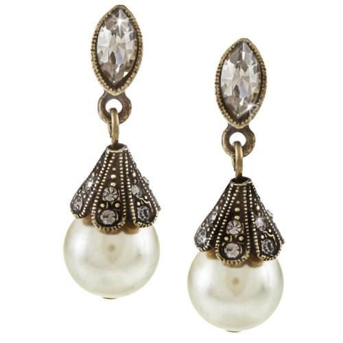 Fontaine Bronze - Sweet Romance Fontaine Pearl Earrings (Cultura)