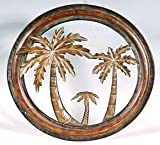 Collectible Badges Decorative 16'' Metal Palm Tree Wall Plaque