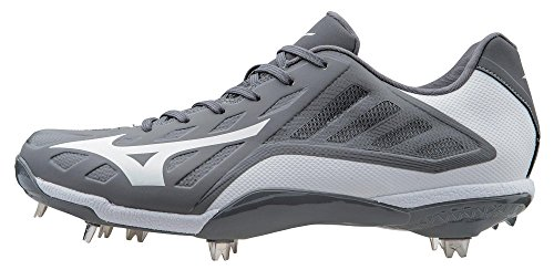 Mizuno Men's Heist IQ Baseball Cleat, Grey/White, 10.5 M US