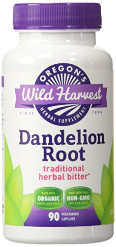 Dandelion Root Capsules (Organic Dandelion Root - Traditional Herbal Bitter, 90 Vcaps,(Oregon's Wild Harvest))