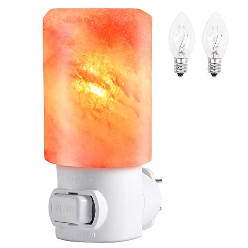 Clearance!! Himalayan Salt Lamp, PEYOU [Air Purifier] 15W Mini Natural Crystal Hand Carved Salt Lamp Night Light Plug-in Wall light with 360° Rotation Plug for Bedrooms,Living room,Gift and Decoration