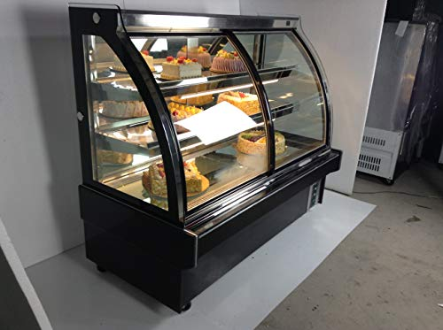 (INTBUYING Commercial Display Case 220V Refrigerator Cake Showcase Bakery Cabinet 47 Inch 35.6℉-46.4℉)