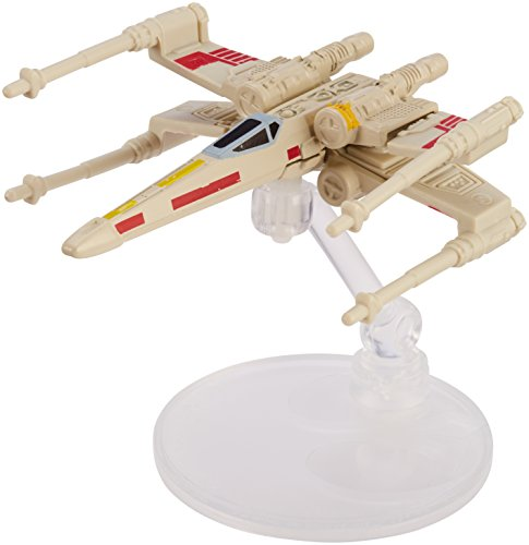 - Hot Wheels Star Wars Rogue One Starship Vehicle, X-Wing Red 5 (Open Wings)