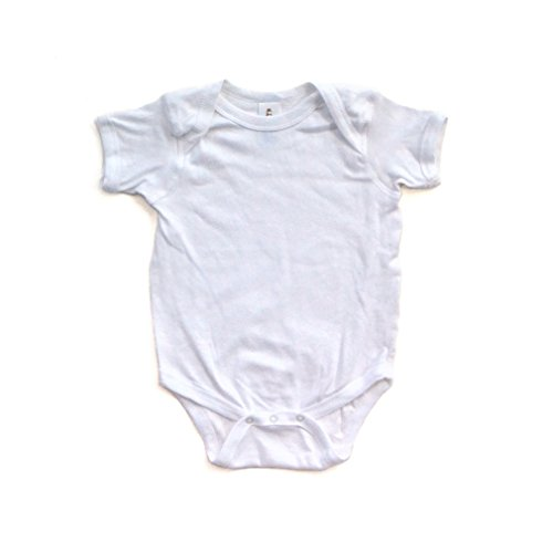 Baby Bodysuit White Pink Sign - 2