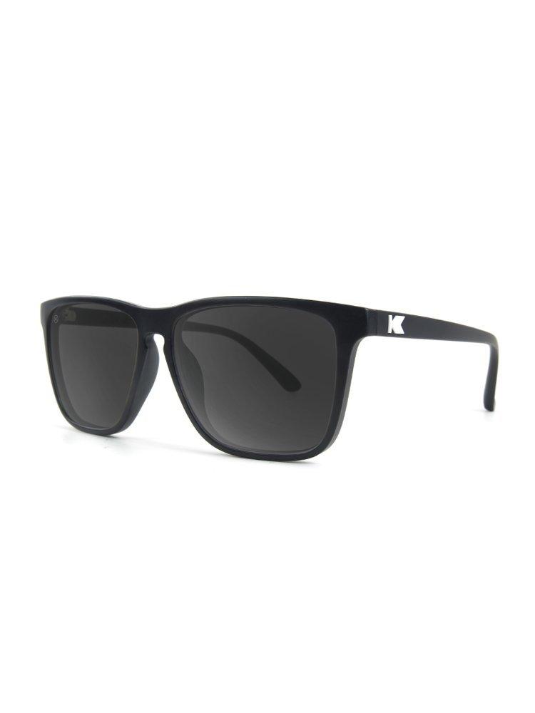Knockaround Fast Lanes Polarized Sunglasses, Matte Black/Smoke