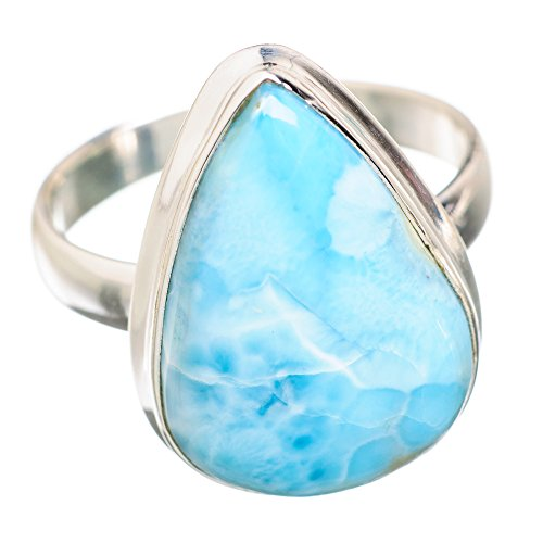 d80554e2ba0 hot sale Ana Silver Co Rare Larimar 925 Sterling Silver Ring Size 8.75  RING821039
