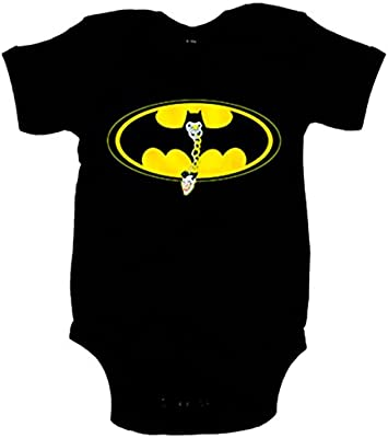 677bf8722c756 Body bebé Batman murciélago logo con chupete - Negro