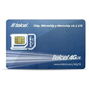 Telcel Mexico Prepaid SIM Card with 2.5GB Data and Unlimited Calls and SMS Universal SIM
