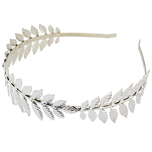 Aegenacess Leaf Headband Wedding Greek Goddess Branch Roman Dainty Hair Bridal Crown Head Dress Boho Accessories for Bride Costumes Halloween -