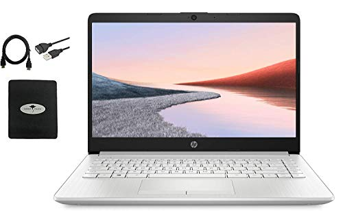 2021 HP 14″ HD Laptop for Business and Student, AMD Ryzen3 3250U (up to 3.5 GHz), 16GB RAM, 1TB HDD+128GB SSD, Ethernet, Webcam, WiFi, Bluetooth, HDMI, Fast Charge, Win10, w/Ghost Manta Accessories