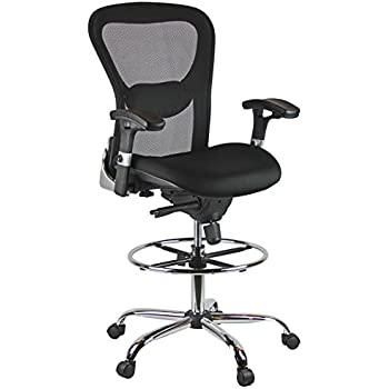 Amazon Com Harwick Deluxe Mesh Drafting Stool With Arms