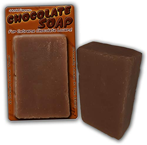 Chocolate Soap Chocolate Scented Bar Soap Funny Unisex Spa Gags for Women Men Chocolate Gags Secret Santa White Elephant Stocking Stuffers Novelty Soap Wife Friend ()