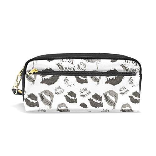 Pencil Case Halloween Lips Symbol Large Capacity Pen Bag Stationery Pouch Stationary Case Makeup Cosmetic Bag