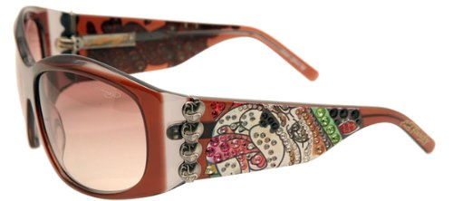 Ed Hardy EHS-006 Love Dog Sunglasses - - Sunglasses Hardy