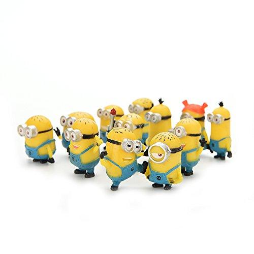 12pcs/Set Action Figures Despicable Me 2 Minion Toys BESTIM INCUK