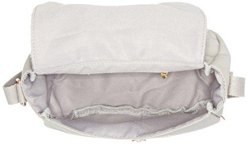 Adelheid Fabelhaft Kindertasche Rund - Borse a tracolla Donna, Grigio (Silbergrau), 6x16x18 cm (B x H T)