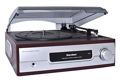 Karcher KA 8050 platenspeler met ingebouwde luidsprekers zilver