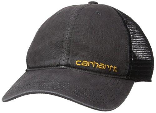 Mens Carhartt Camouflage - Carhartt Men's Brandt Camo Mesh Back Cap, Black, OFA