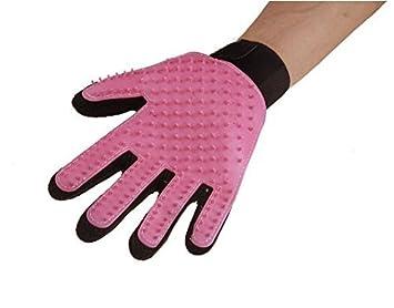 Natthom Doux efficace Brosse animaux de compagnie nettoyage gant épilation brosse massage gant 1 pièce (Orange)