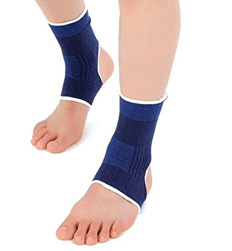 Ankle Brace Compression Support Sleeve for Running,Athletics, Injury Recovery, Joint Pain, and More(1 pair) by Evermacro