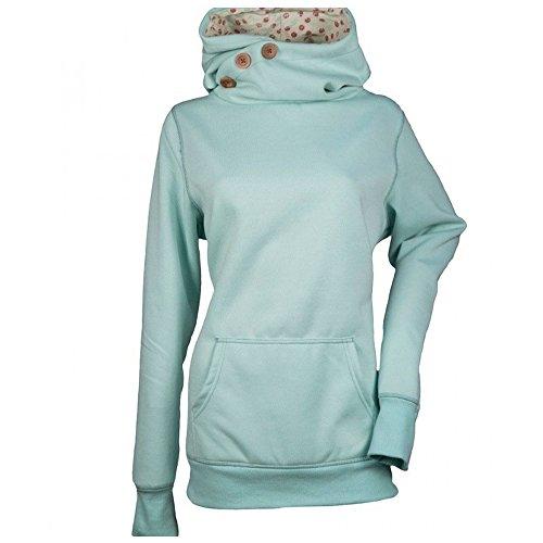 KINDOYO Women Hoodie Long Sleeve High Necked Casual Sweatshirt Jacket Coat
