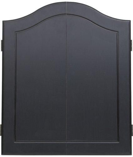 - Outlaw Stained Wooden Dart Board Cabinet, Black