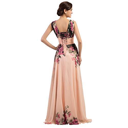 Us colore Stampa Promenade 4 A Con A Vestito Abiti Melodycp Aderente Sera Dimensione Floreale Abito Donna Elegante Matrimoni Per Da xUTH6wqO0