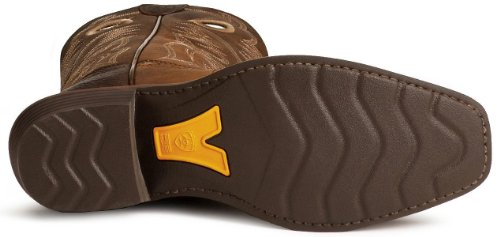 Ariat Men's Heritage Rough Stock Cowboy Boot Square Toe Brown 14 D(M) US