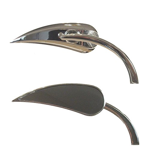 Arlen Ness Chrome Micro Mini RAD II Teardrop Mirrors for Harley-Davidson - 13-410 13-411