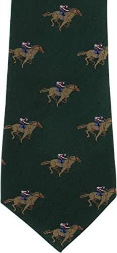 Green Horse Racing Silk Tie by Michelsons of London