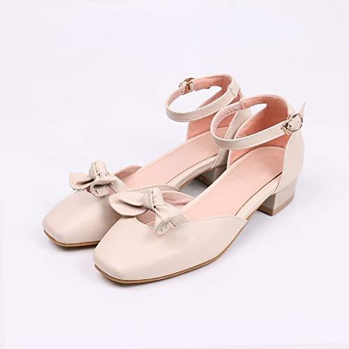 Heel Low PU Women's Heels Beige Blue ZHZNVX Summer Pink Basic Pink Shoes Polyurethane Comfort Pump qvEnx1TzE