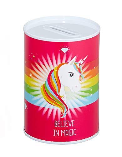 (Cepewa Pink Believe in Magic Unicorn Coin Piggy Bank Room Decor, 4.53