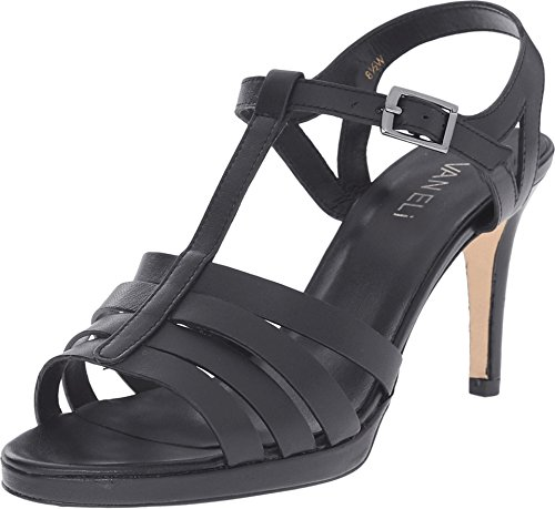 VANELi Women's Titan Black Nappa/Gunmetal Buckle Sandal 8.5 M (B) (Vaneli Mules Leather)