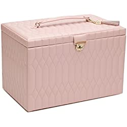 WOLF 329515 Caroline Jewelry Case, Rose Quartz, XL, Dusty Rose