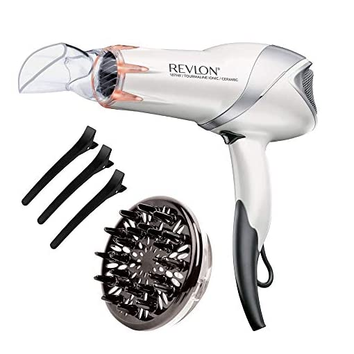 - 41ayZxb1PzL - Revlon 1875W Damage Protection Infrared Hair Dryer with Hair Clips