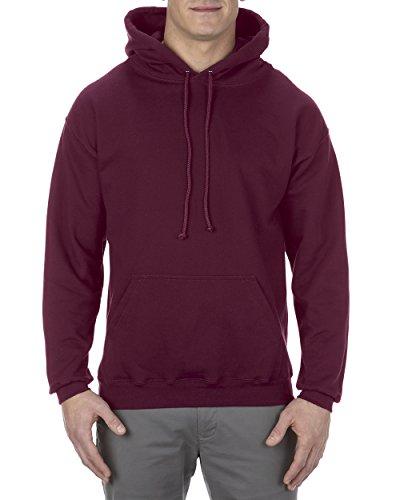 Alstyle Apparel AAA Men's Fleece Pullover Hoodie, Burgundy, Large