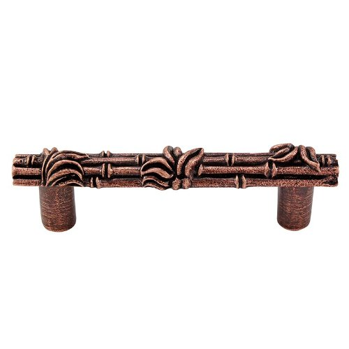 Vicenza Designs K1129 Palmaria  Bamboo  Pull,  3-Inch,  Antique Copper