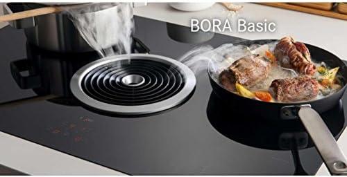 BORA BIU Integrado Con - Placa (Integrado, Con placa de inducción, Vidrio y cerámica, Negro, 1400 W, 17,5 cm): Amazon.es: Hogar
