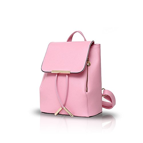 NICOLE Bag Light Travel Waterproof Backpack amp;DORIS Mini Shoulder Women Pink PU College School Blue Leather Fashion Daypack Durable AqZZXxwY