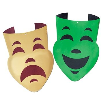 Beistle Comedy Tragedy Faces Party Accessory