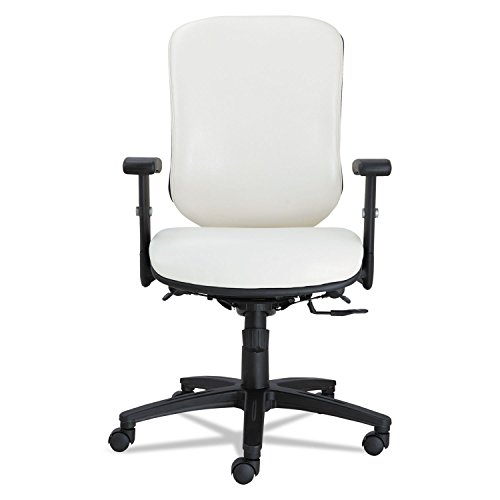 Alera EN4206 Eon Series Multifunction Mid-Back Stain Resistant Upholstery Chair, White