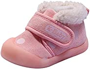 Kuner Toddler Baby Boys Girls Plush Robber Sole Warm Snow Boots First Walkers Shoes