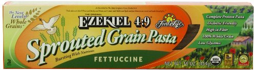 Food For Life Ezekiel 4:9 Organic Sprouted Grain Pasta, Fettuccine, 16-Ounce Boxes (Pack of 6)