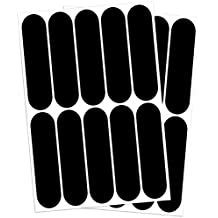 B REFLECTIVE, (4 Pack) 12 retro reflective stickers kit, Night visibility safety, Universal adhesive for Bike / Stroller / Buggy / Helmet / Motorcycle / Scooter / Toys, 7 x 1,8 cm, Black