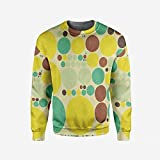iPrint Men's Crewneck Bridal Shower Decorations Pullover Sweater