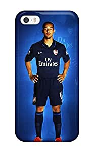 Awesome YdSiYnH396qFsSn Earurns Defender Tpu Hard Case Cover For Iphone 5/5s- Theo Walcott
