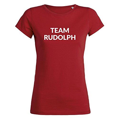 Damen Team Rudolph Weihnachts-T-Shirt - Rot
