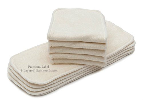 10/Pack KaWaii Premium Label 4-Layered Bamboo Inserts One Si